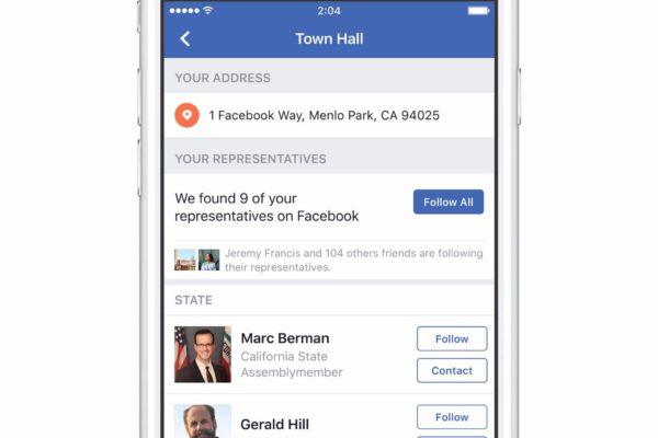 Come funziona Town Hall, la comunicazione politica secondo Facebook