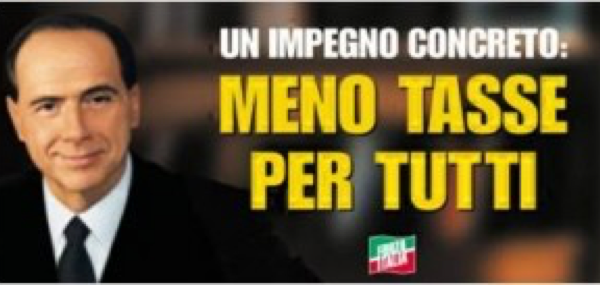 I manifesti elettorali di Silvio Berlusconi dal 1994 ad oggi